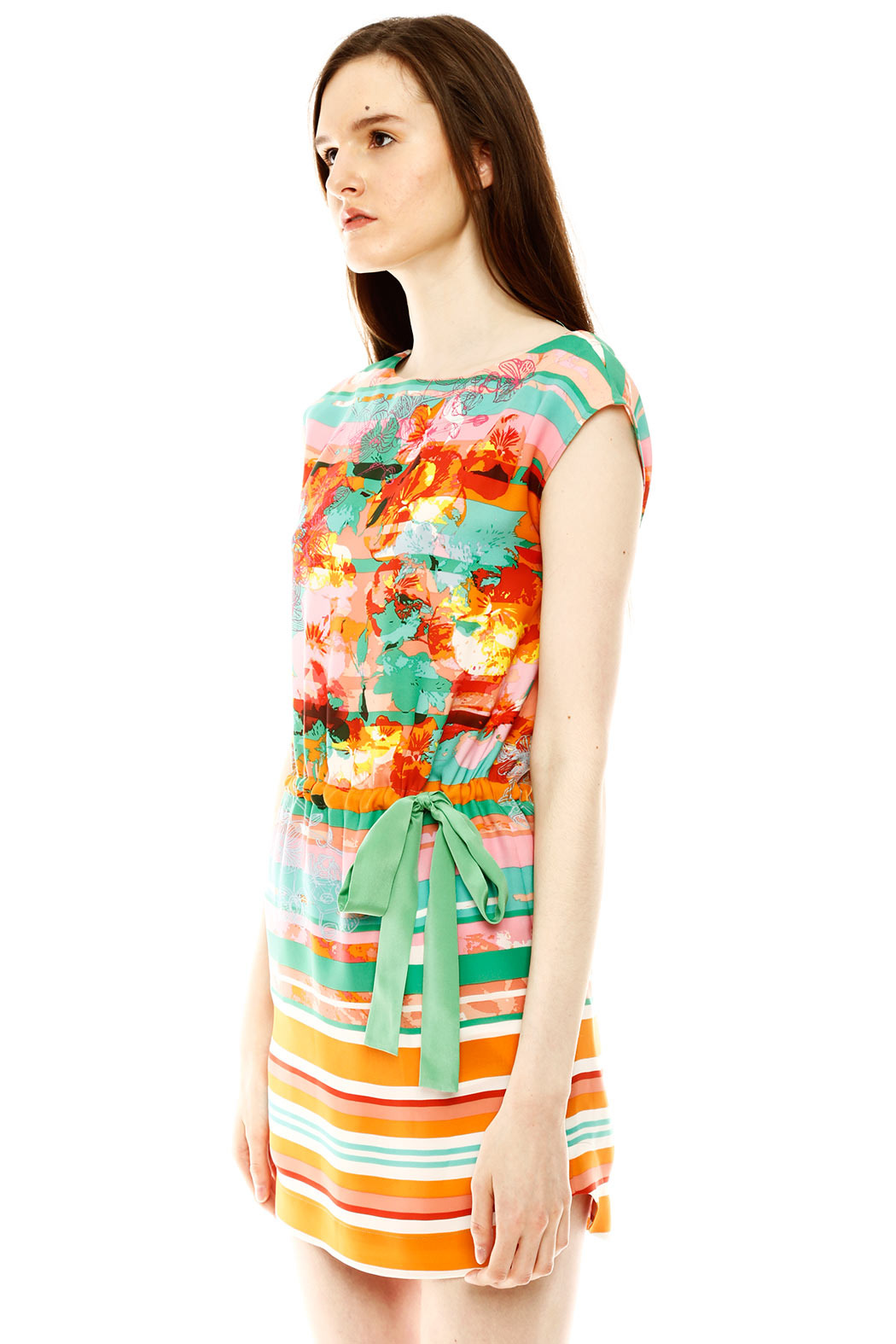 Ali Ro Vibrant Floral Dress - Side Cropped Image