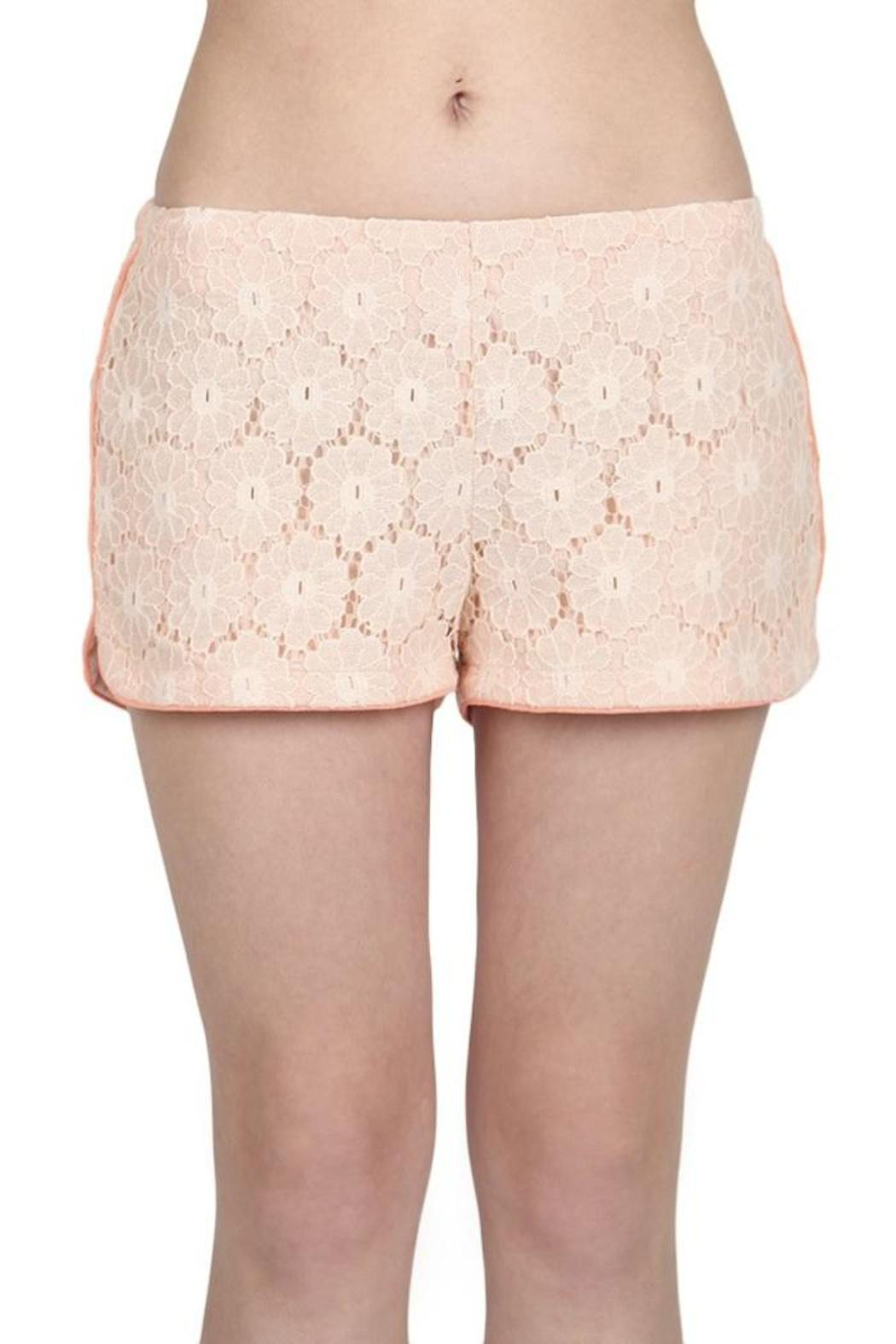 Blu Pepper Lace Jogger Short - Front Cropped Image