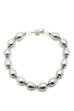 Shoptiques Product: Grey Baroque Pearl Necklace
