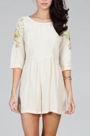 Ark & Co. Floral Embroidered Romper - Product Mini Image