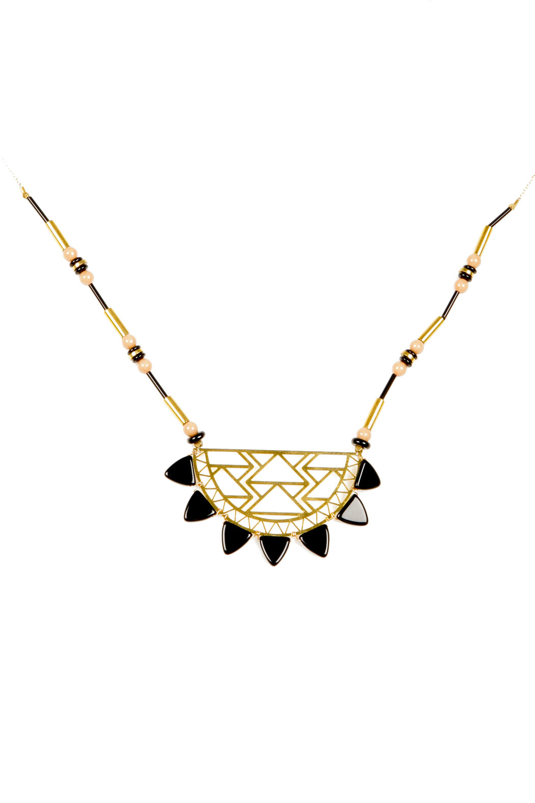 Kris Nations Urban Beaded Necklace - Front Cropped Image