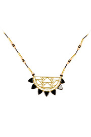 Kris Nations Urban Beaded Necklace - Front cropped