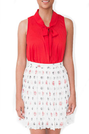Shoptiques Product: Owl Print Skirt - Front cropped