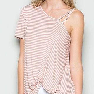 Shoptiques Striped Shirt Sleeve Top