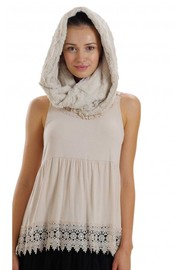 Melody Ivory fur scarf - Product Mini Image