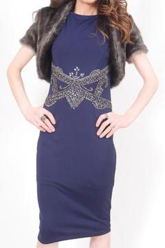 Shoptiques Product: Navy Beaded Dress