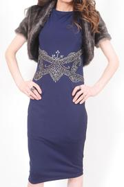 Little Mistress Navy Beaded Dress - Product Mini Image