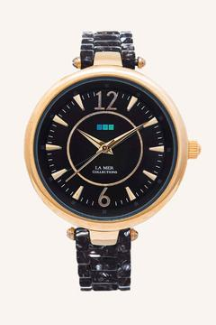 LA MER Collections Black/Gold Sicily Watch - Alternate List Image