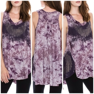Shoptiques Product: Tunic Violet Tank Top