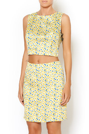 I. Madeline Yellow Daisy Crop Top - Front cropped