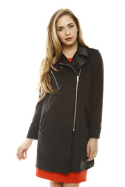 Shoptiques Product:  Leather Detail Coat