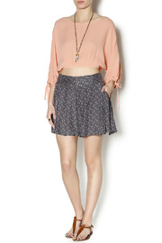 Free People Retro Floral Shorts - Front full body