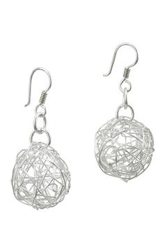 Shoptiques Product: Wire Ball Earrings
