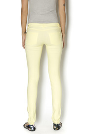 Karlie Neon Yellow Jeggings - Back cropped
