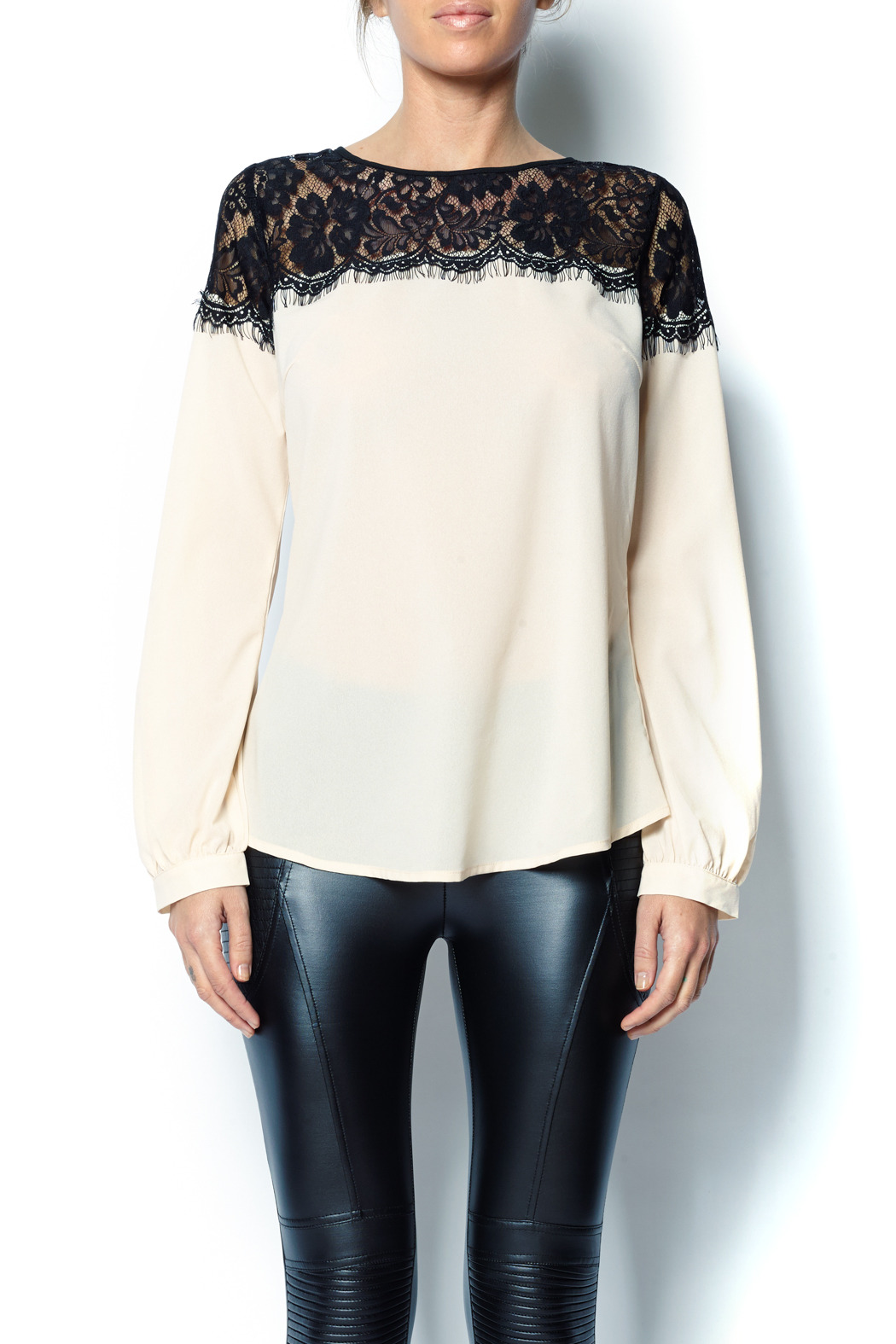 A'reve Lace Top - Front Cropped Image