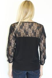 MYNE Lace Silk Top - Back cropped