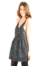 Mimi's Beer Spaghetti Strapped V-Neck Dress - Side cropped