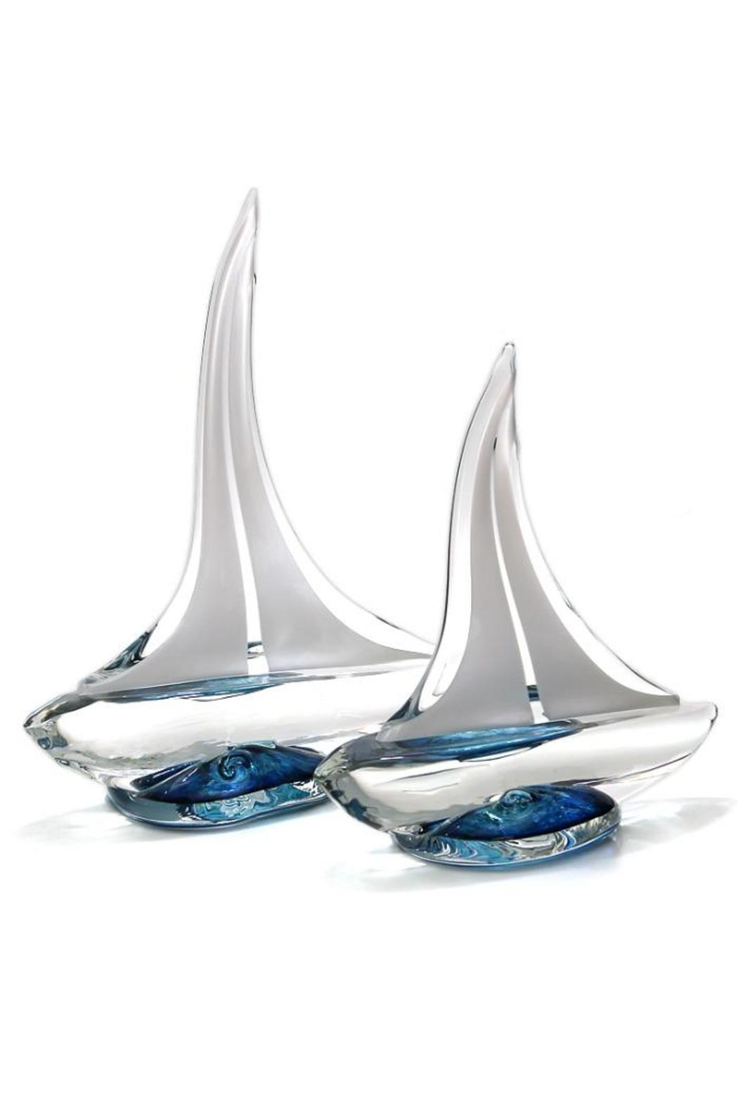 Glass Sailboat, Large - Front Cropped Image