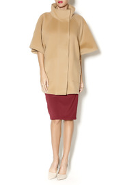 Katherine Barclay Structured Camel Coat - Front full body
