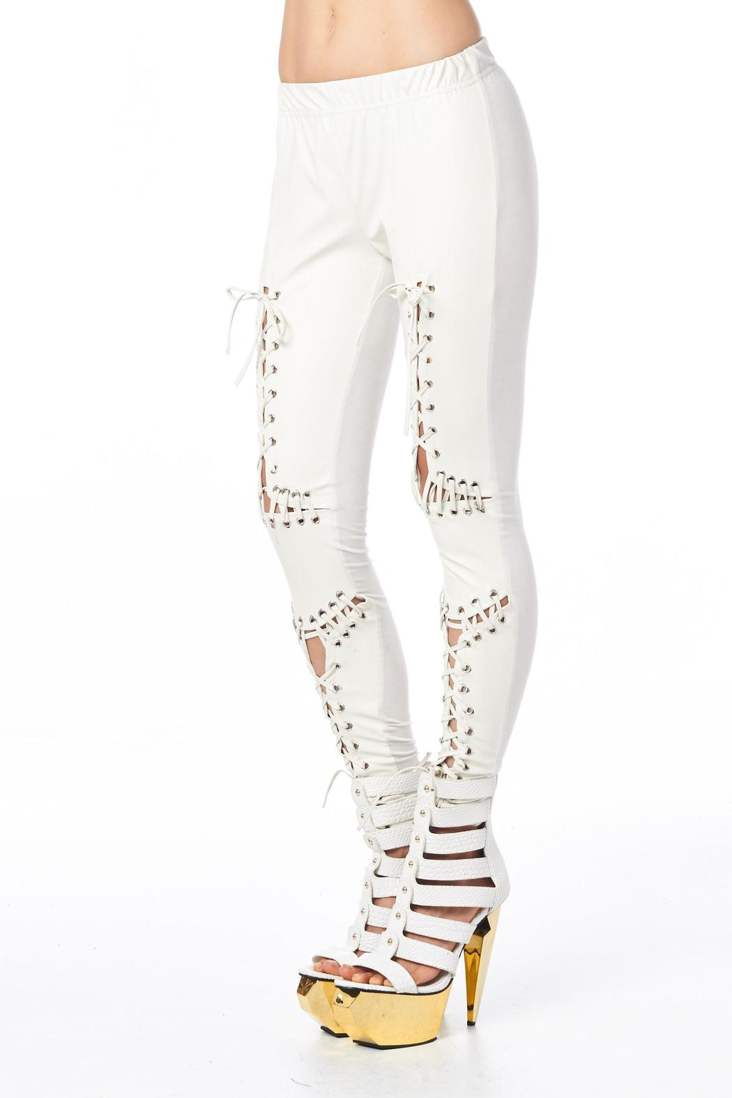 TOV H White Headliner Legging - Front Full Image