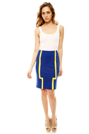 DANIELA CORTE Knit Pencil Skirt - Front full body