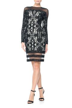 Tadashi Shoji Tulle Long-Sleeve Dress - Product List Image
