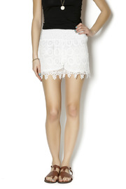 New Mix White Crochet Shorts - Product Mini Image