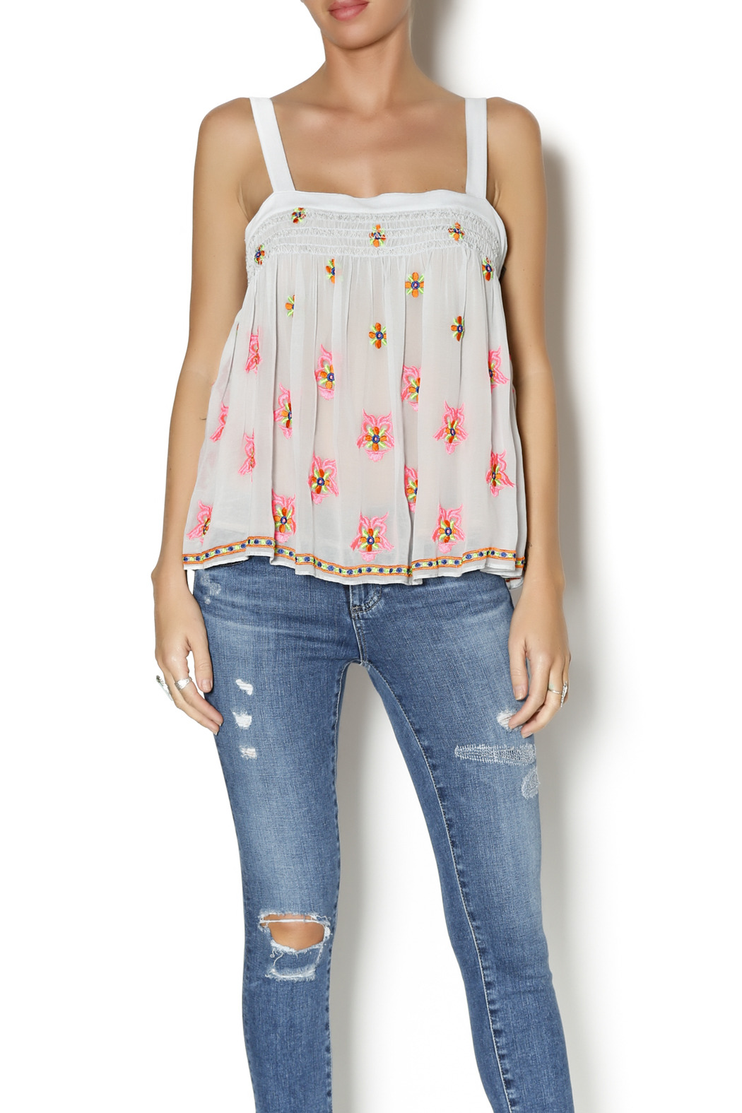 Plenty by Tracy Reese Flirty Tank Top - Front Cropped Image