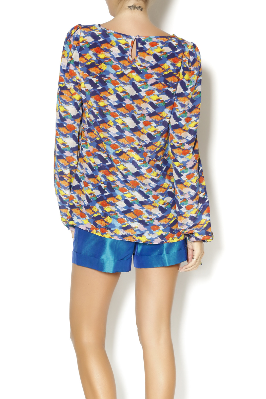 By Smith Monet Multicolor Blouse - Back Cropped Image