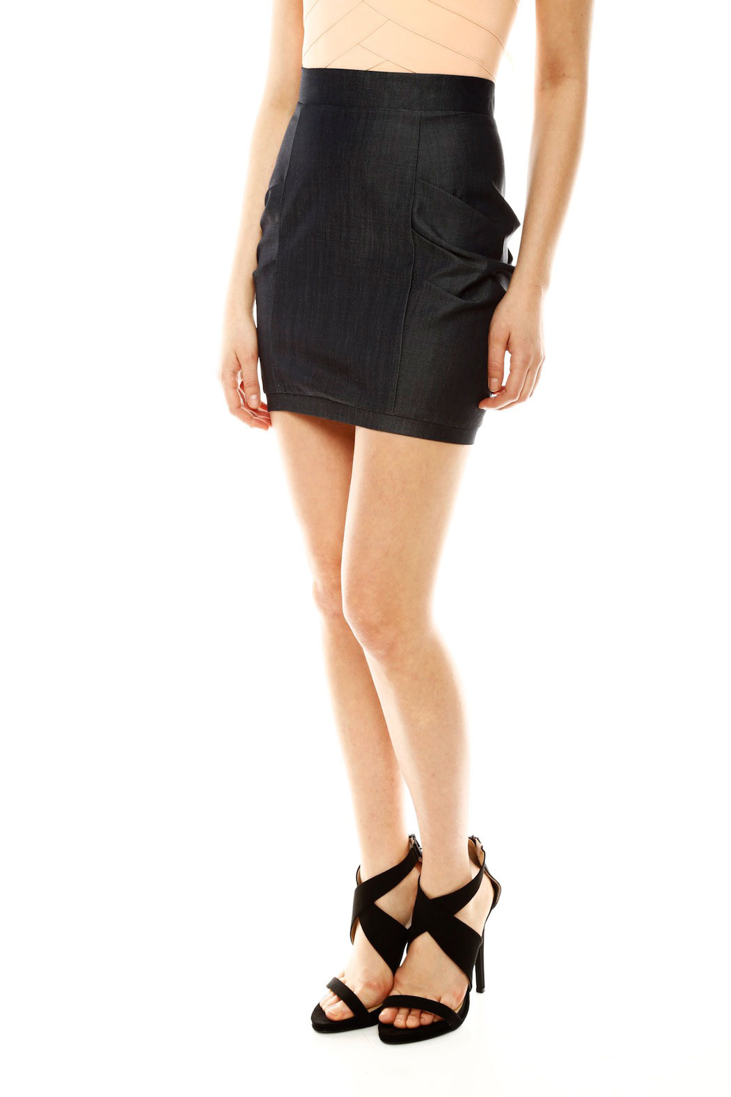 jhaus stretch denim skirt from by clothes minded