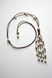 Lily Chartier Pearls Waterfall Necklace - Product Mini Image