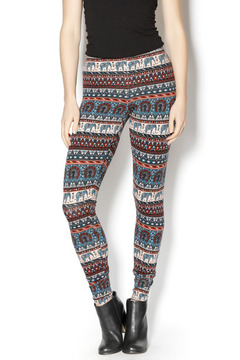 Angie Aqua Tribal Leggings - Product List Image