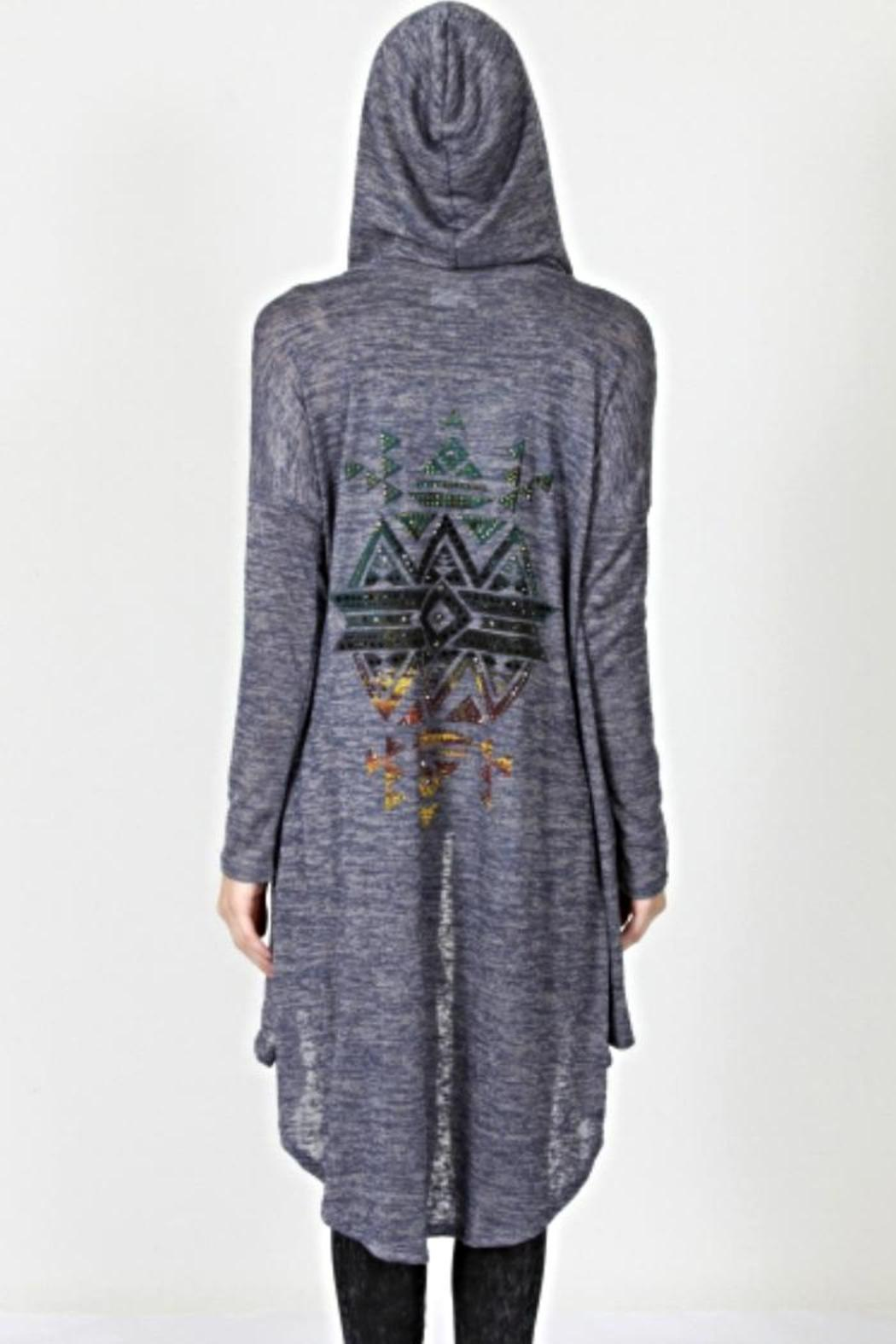 Hooded Aztec Cardigan from Colorado by Bling! — Shoptiques