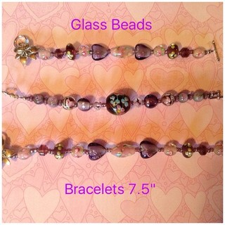 Shoptiques Purple Heart Bracelet