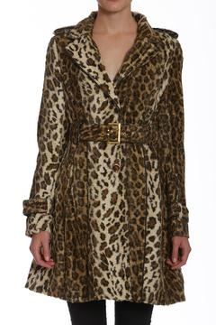 Members Only Faux-Fur Leopard Trench - Product List Image