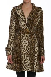 Members Only Faux-Fur Leopard Trench - Product Mini Image
