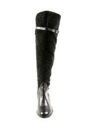 Lea-Gu Long Suede Leather Boots - Front full body