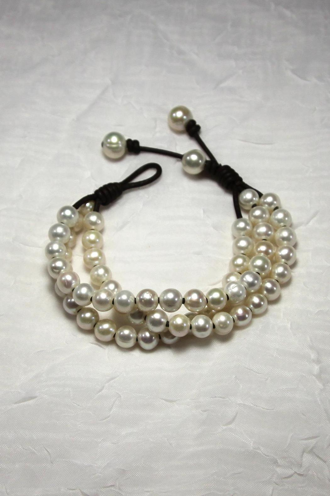 Lily Chartier Pearls Triple Strand Bracelet - Main Image