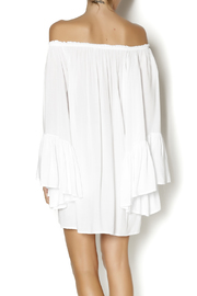 Elan White Boho Top - Back cropped