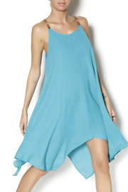 Abby & Taylor Teal Handkerchief Dress - Product Mini Image