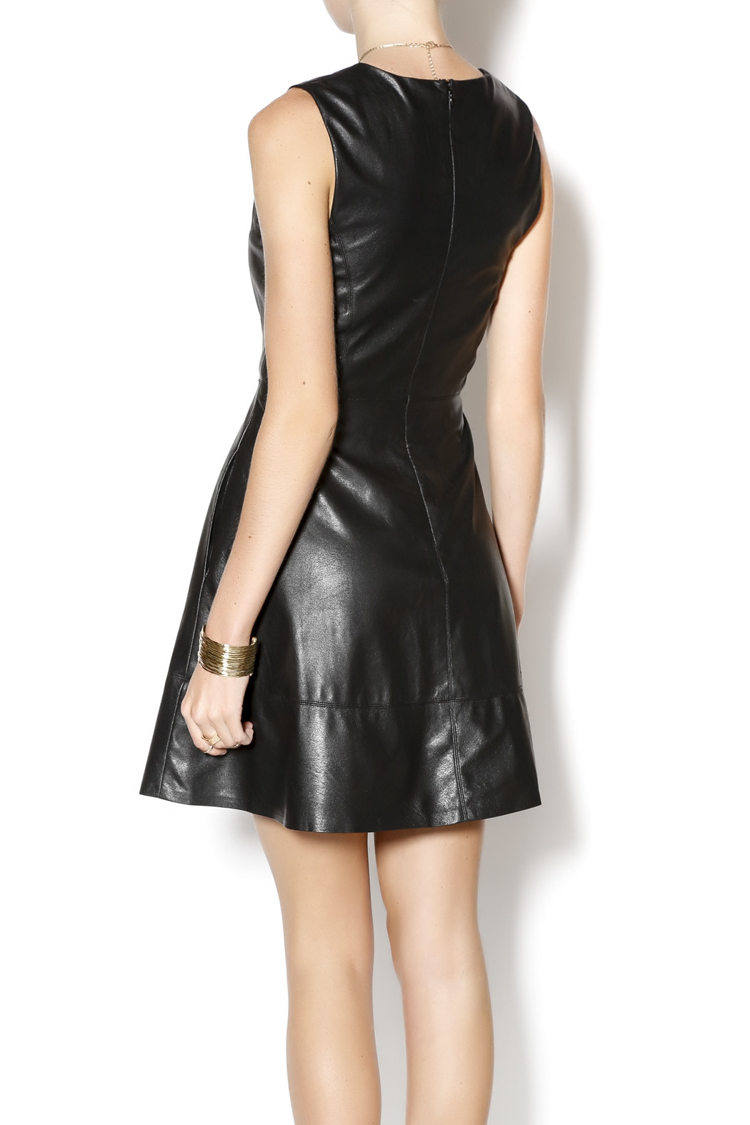 Willow & Clay Faux Leather Dress - Back Cropped Image