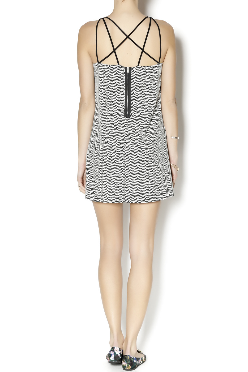 Coveted Clothing Zig Zag Dress - Side Cropped Image
