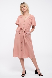 E & M Pocket Midi Dress - Product Mini Image