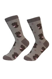 E & S Pets Chocolate Lab Socks - Product Mini Image