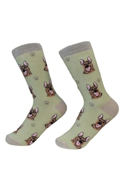 E & S Pets German Shepherd Socks - Front cropped