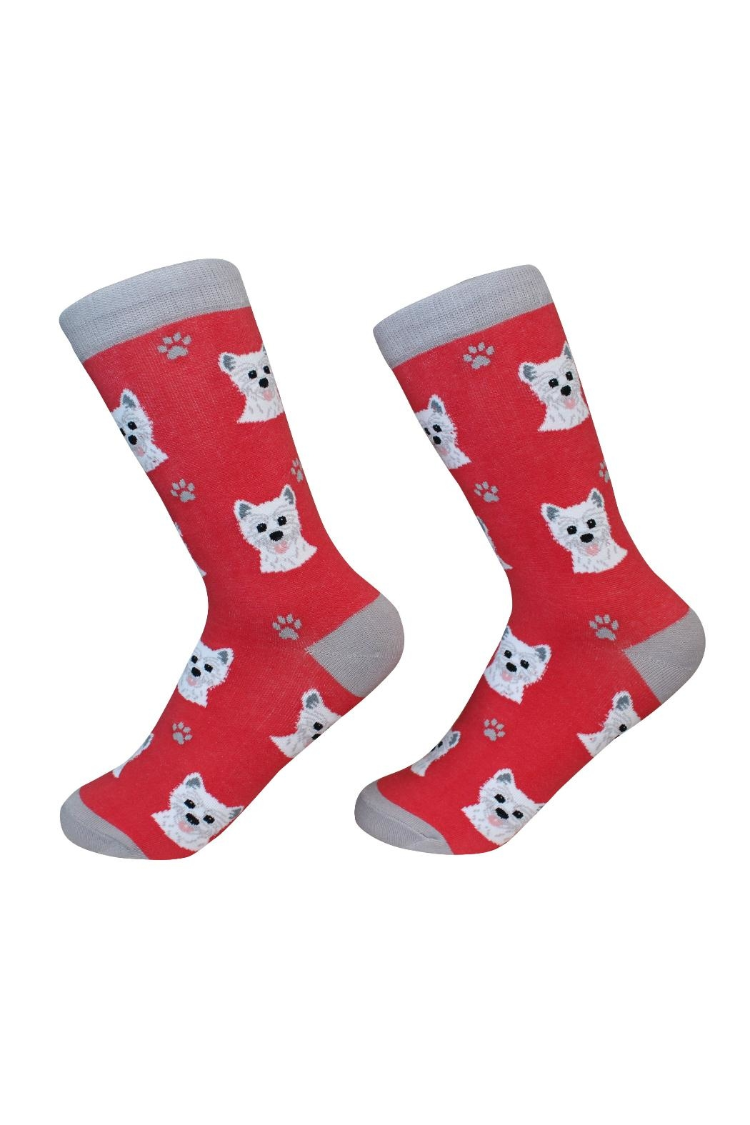 E & S Pets Westie Socks - Front Cropped Image
