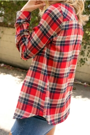 E Luna Fleece Lined Flannel Shirt - Front full body