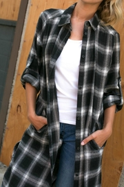 E Luna Plaid Side Pocket Top - Product Mini Image
