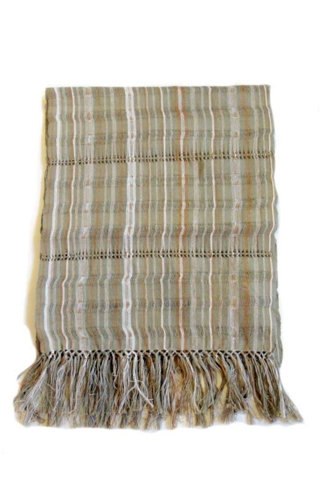 Diseño  Striped Patterned Scarves - Front Cropped Image