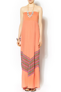 Missy Robertson Coral Chevron Detail Maxi - Product List Image